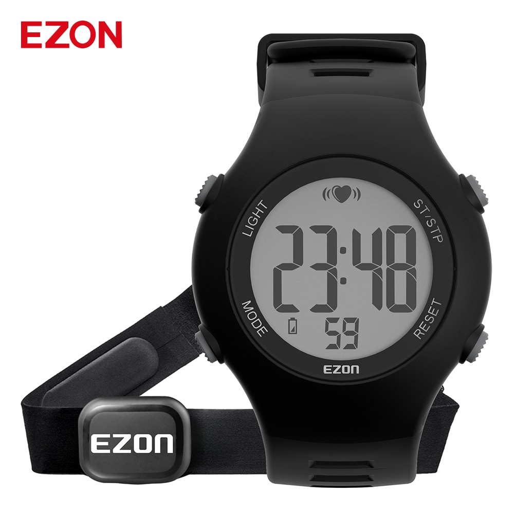Monitor de Freqüência Relógio de Pulso ao ar Relógio de Mão Homme com Cinta Ezon Cardíaca Unisex Esportes Livre Correndo Digital Montre no Peito T037