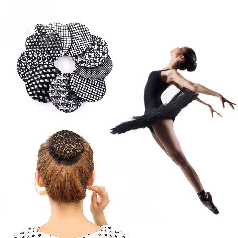 Haimeikang 2PC Neue Ankunft Bun Abdeckung Haar Net Ballett Tänzerin Skating Häkeln Mädchen Blumen Haar Snood Haar Zubehör Für frauen