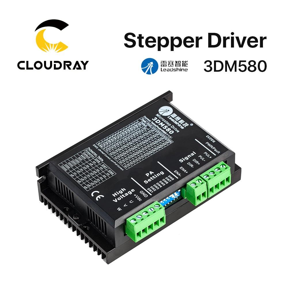 Cloudray Leadshine 3 фазы 3DM580 Драйвер шагового двигателя 18-50VDC 1,0-8.0A