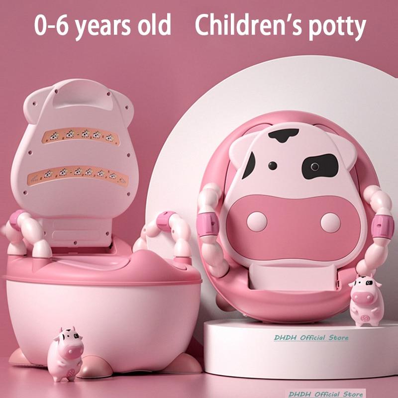 Boys and Girls Potty training Seat Children's Pot Ergonomic Design Potty Chair Comfy Toilets Children Gift --Free Cleaning Brush