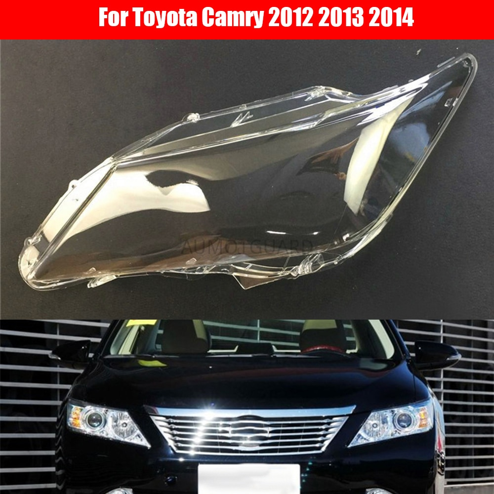 Car Headlight Lens For Toyota Camry 2012 2013 2014 Car Headlamp Cover Replacement Auto Shell Cover