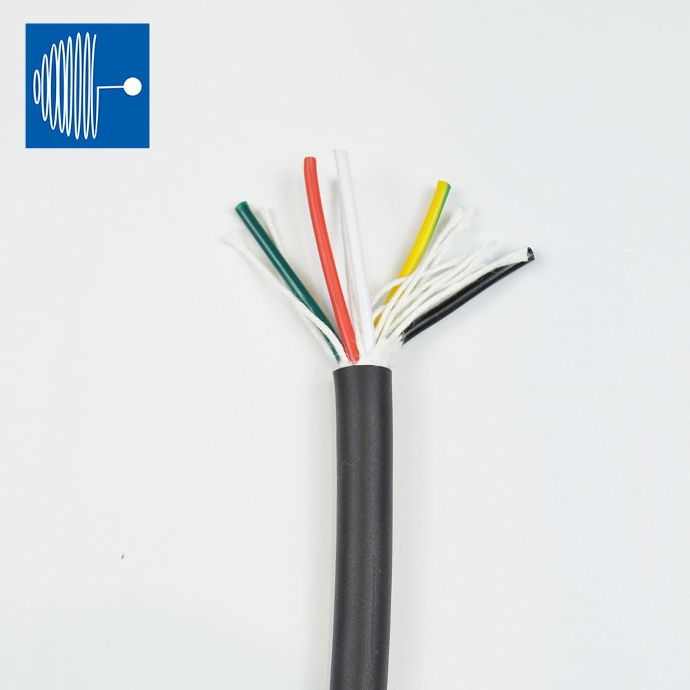 Cable TRIUMPHCABLE/SHENGPAI negro de alta flexibilidad 5 M RVV 1,0mm 2/3/4/5 núcleos hilo de cobre cable de alimentación suave cables multi núcleo