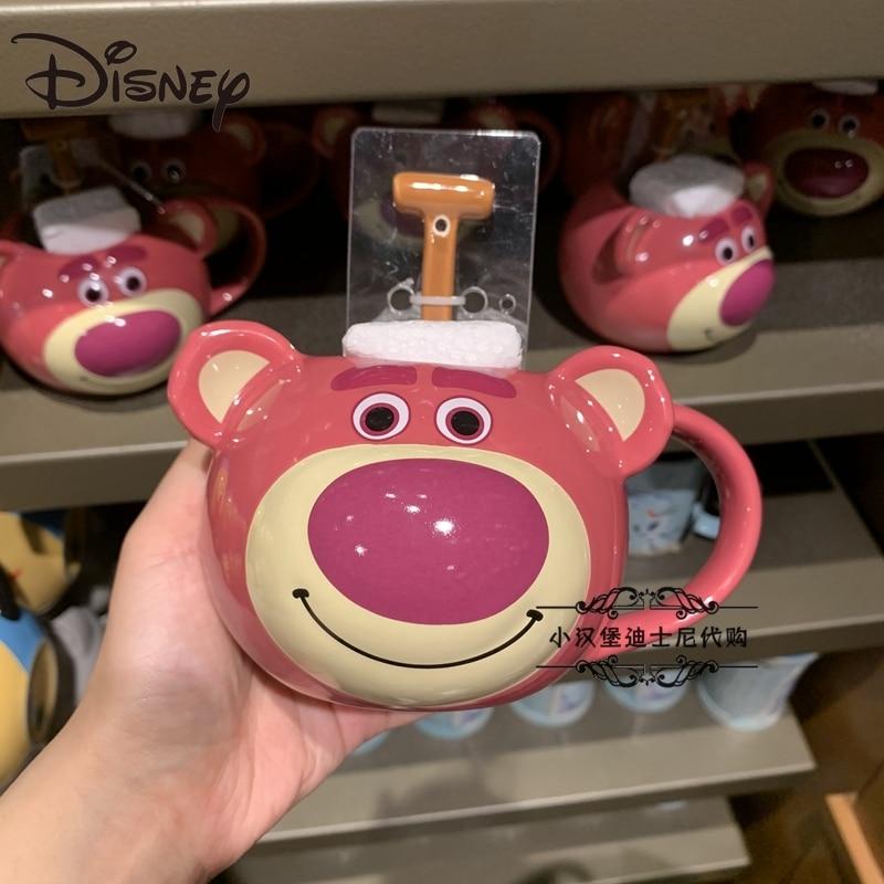 ديزني كوب سيراميك قصة لعبة الفراولة الدب الكرتون سعة كبيرة صانع شرب الماء كوب فنجان قهوة كوب حليب