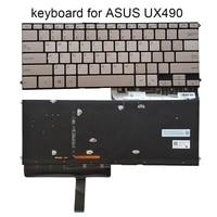 genuine us backlit keyboard for asus zenbook 3 deluxe ux490 ux490ua english notebook pc keyboards laptop sales light sn2561bl2