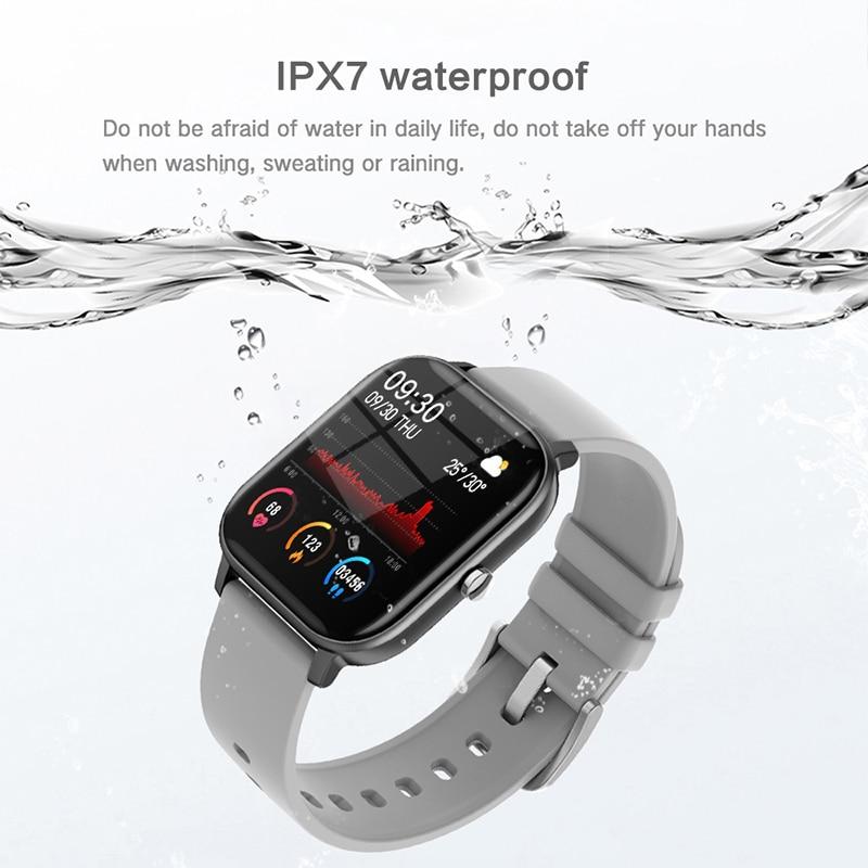 2020 New P8 Color Screen Smart Watch Women men Full Touch Fitness Tracker Blood Pressure Smart Clock Women Smartwatch for Xiaomi enlarge