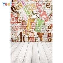 Yeele Photophone décors planche de bois planches Grunge mur de briques arrière-plans photographiques vinyle Photocall pour Studio Photo bébé