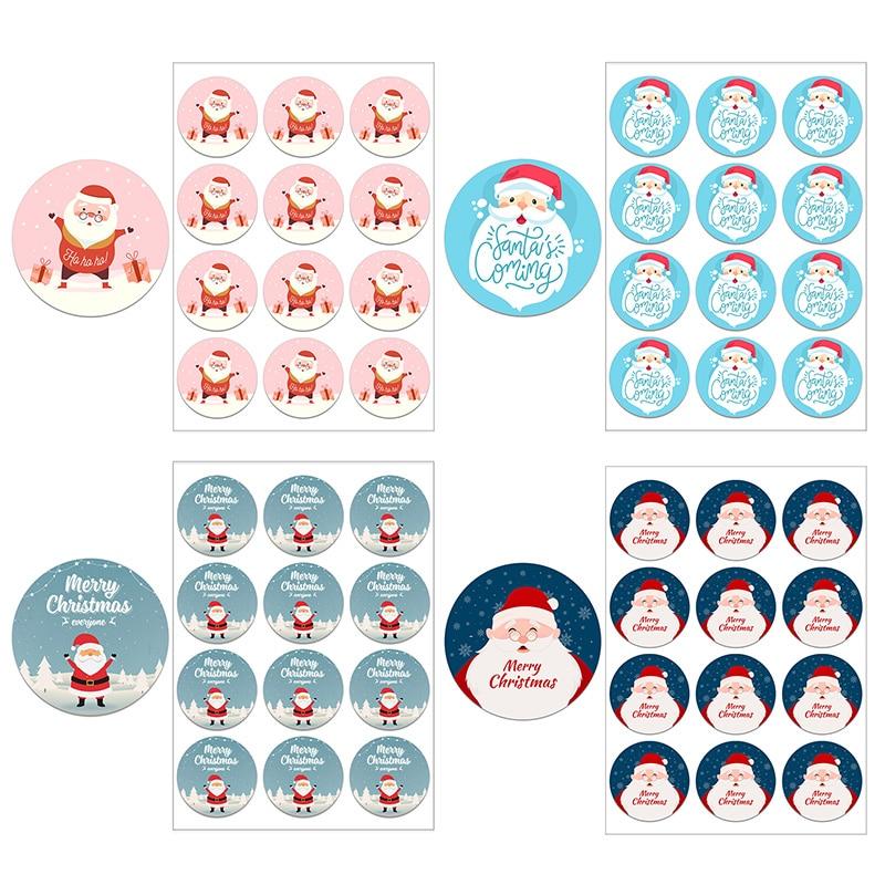 Autocollants de noël joyeux noël, sacs cadeaux, étiquettes, décoration Sandwich, fête de noël, fournitures pour enfants, emballage cadeau haut