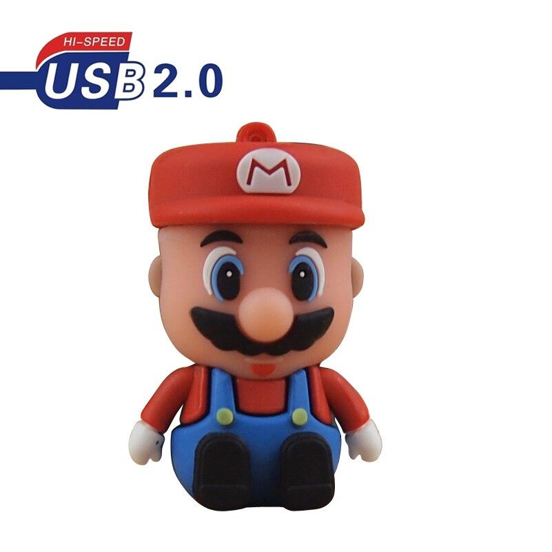 Memoria Usb 100% de capacidad, memoria USB 2,0 Super Mario, unidad Flash Usb 32gb 16gb 8gb, Mini Pendrive 4gb, envío gratis para regalo