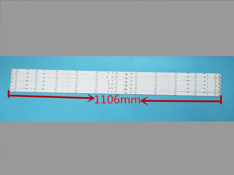 1106 مللي متر LED شريط إضاءة خلفي ل فيليبس 55 بوصة SVJ550AH1_REV00_11LED_L/R_Type_150206 (MYCH55D2000) LB-C550F14-E5-R/L-G1-SR1
