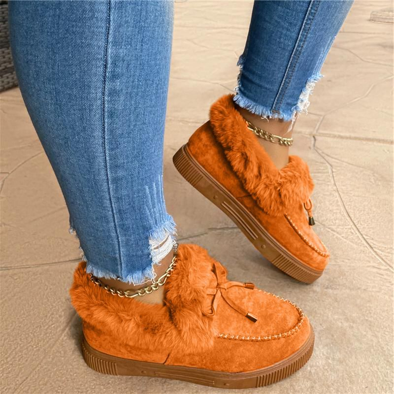 Winter New Products Women's  Suede Casual Fashion Flat Bottom Snow Boots Warm Anti Slip Versatile Ho