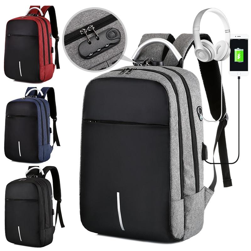 Деловой мужской многофункциональный рюкзак с защитой от кражи, мужской рюкзак для ноутбука 15,6 дюйма с Usb-зарядкой, водонепроницаемый рюкзак