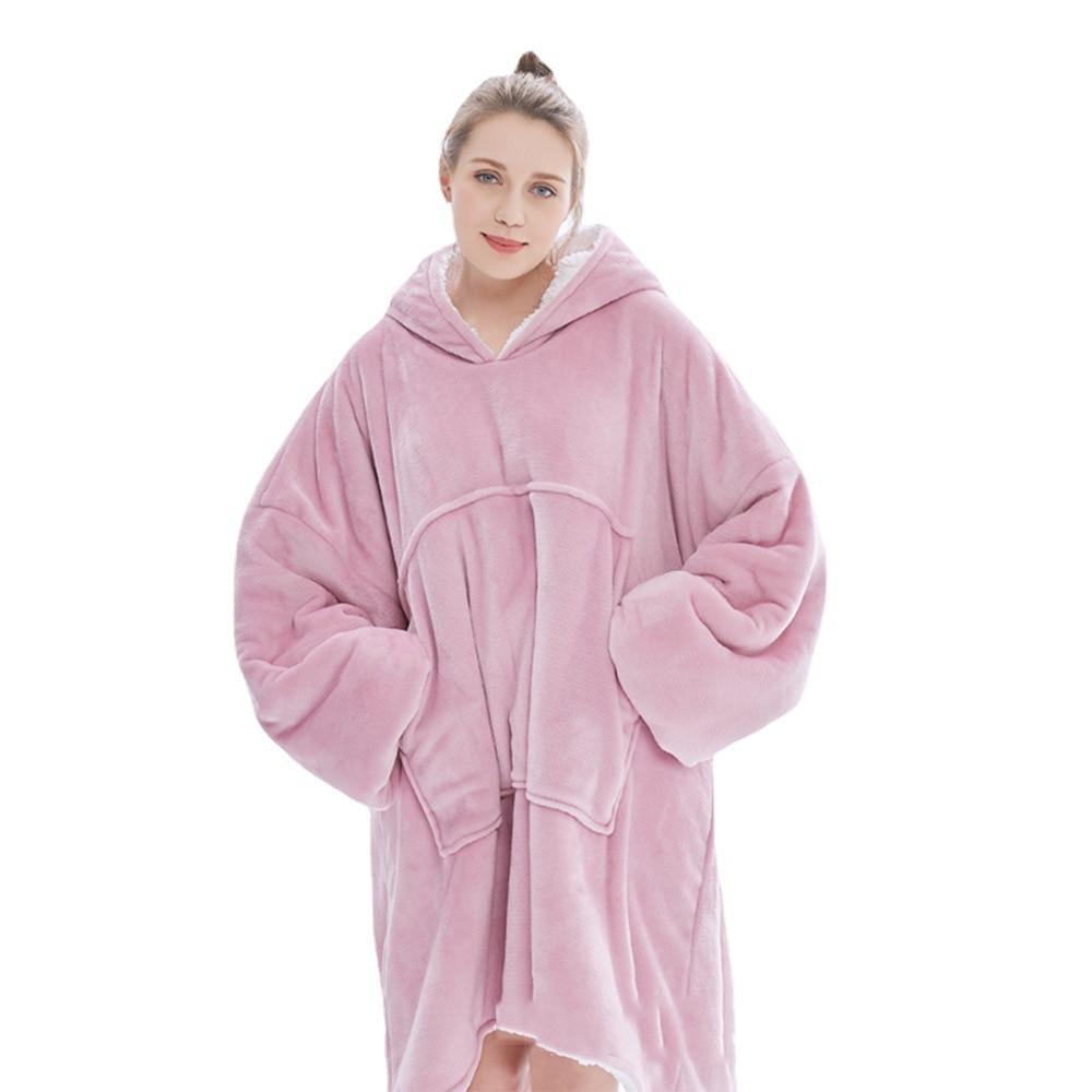 Зимнее плюшевое Коралловое одеяло, плюшевая флисовая толстовка с длинными рукавами, одеяло для телевизора, детское худи, мягкие теплые флан...