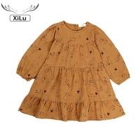 girls korean printed long sleeve girl princess dress kids dresses for girls korean baby clothes toddler girl christmas outfits