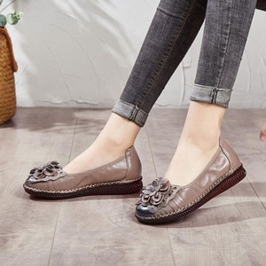 Women Shoes New Soft Women Casual Shoes Ladies Women Flats Genuine Leather Shoe Flats Non-slip Oxford Shoes For Women's Loafers
