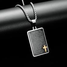Nuevo Gran oferta Collar para hombres Jesús colgante con forma de cruz de cristal collar Cruz collar joyería de moda