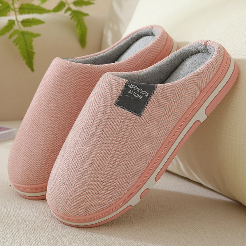 Winter Slippers Ladies Warm Flock Solid Home Shoes Female Plush Slip Soft Comfortable Indoor Flat Women Footwear Couples Slipper slippers for home use emoji soft cute cartoon slipper winter warm plush women shoes indoor home slippers for female women shoes