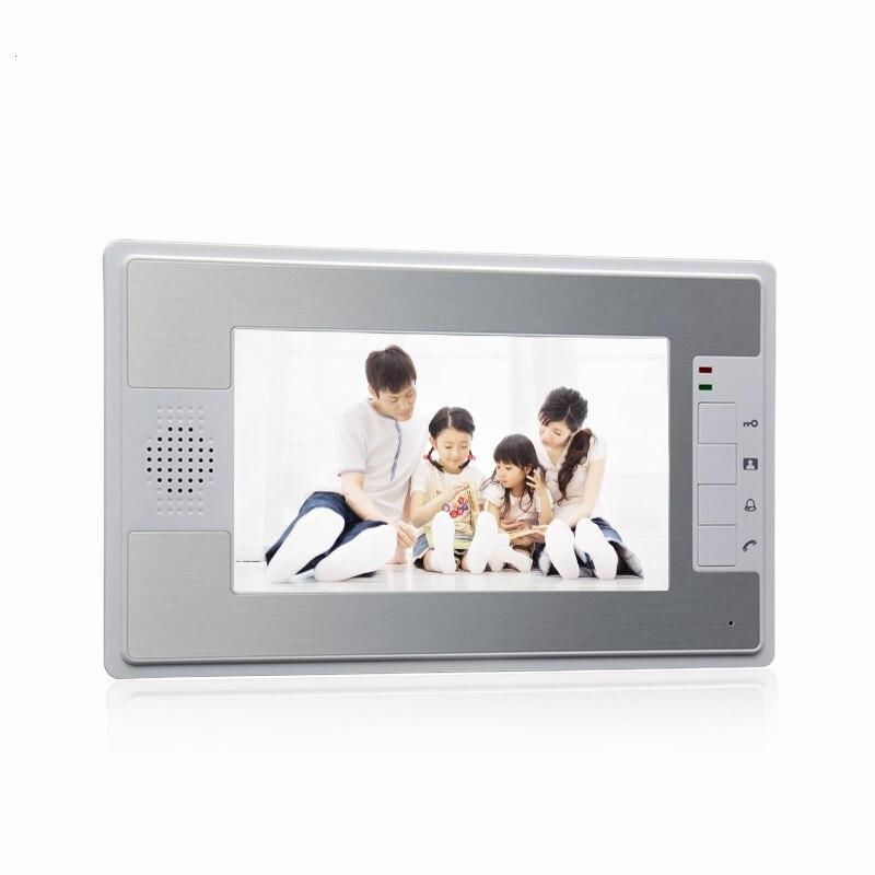 (1 قطعة) جديد HD 600TVL 7 بوصة فيديو باب الهاتف الجرس فيديو باب الهاتف نظام اتصال داخلي وحدة داخلية فقط رصد الملونة