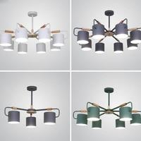 Led restaurant lighting chandelier Nordic simple wooden chandelier lighting modern bedroom home improvement home