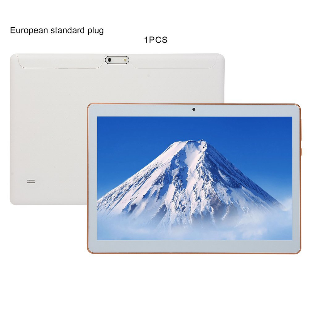 Tableta de plástico KT107 de 10,1 pulgadas HD de gran pantalla versión Android 8,10 tableta portátil de moda 8G + 64G tableta blanca xiajia