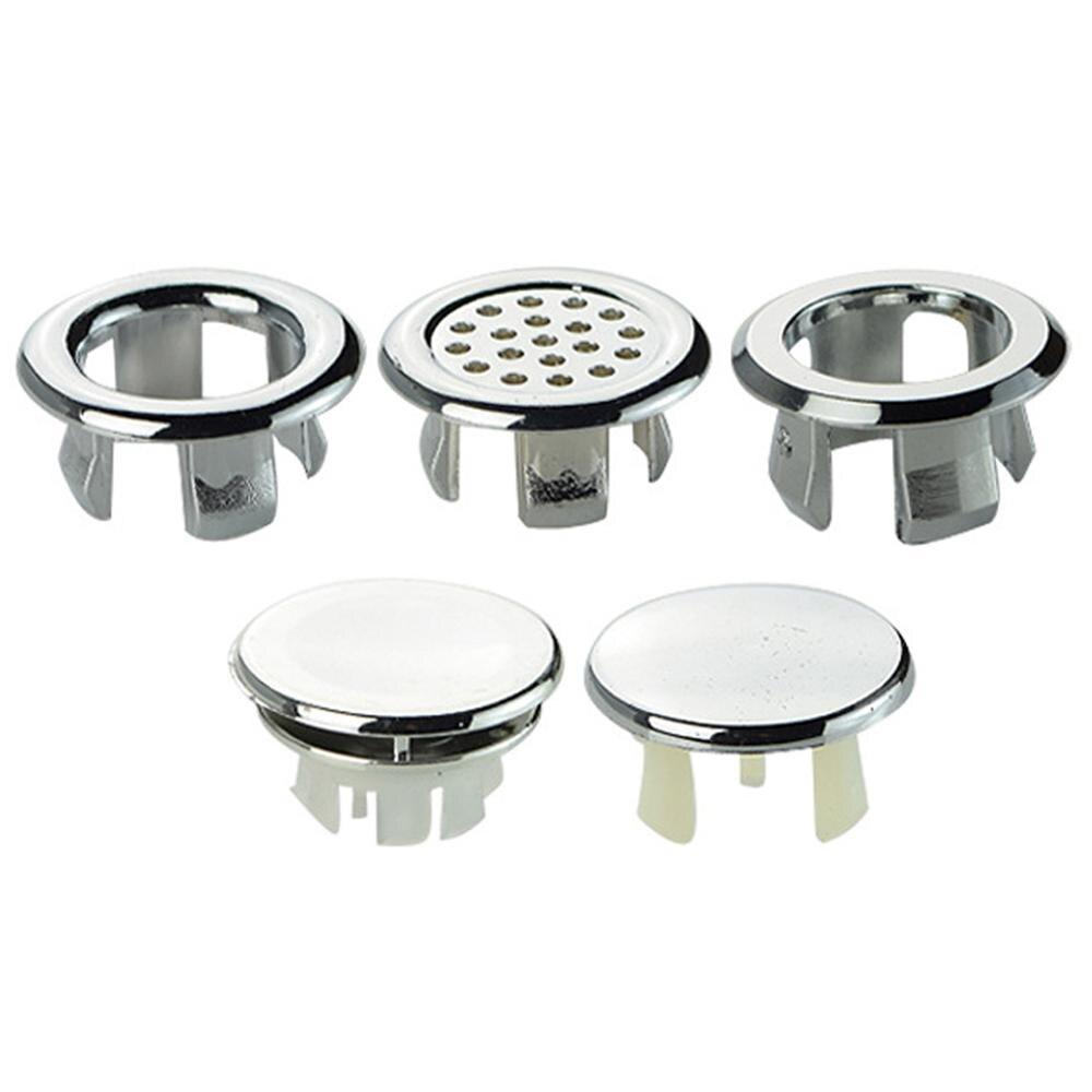 Alta calidad 1 Pc fregadero anillo redondo anillo de desbordamiento de repuesto cubierta ordenado adornos de cromo baño lavabo de cerámica de desbordamiento anillo сифон