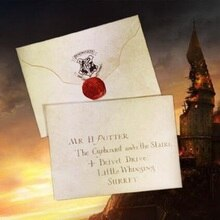 Harriom-Cosplay, avis magique dadmission Potter, jouets pour enfants, spectacle de fête, lettre, cadeau