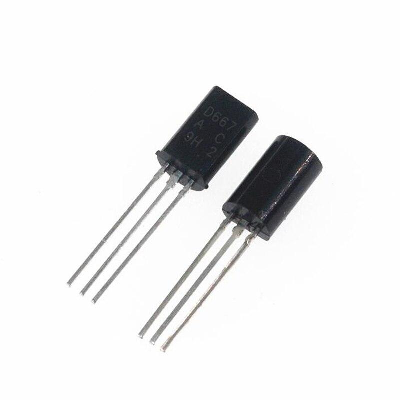 50PCS 2SD667 D667 TO-92L TO92 de plástico-encapsular transistores