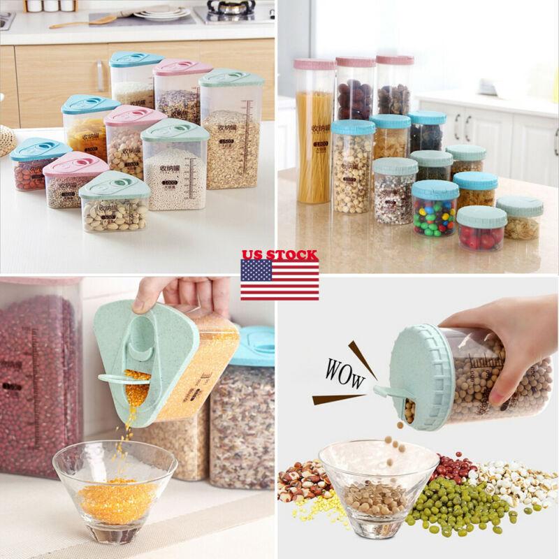 1PC Plastic Kitchen Food Cereal Grain Bean Rice Storage Box Container Box Case For Kitchen Fridge Container