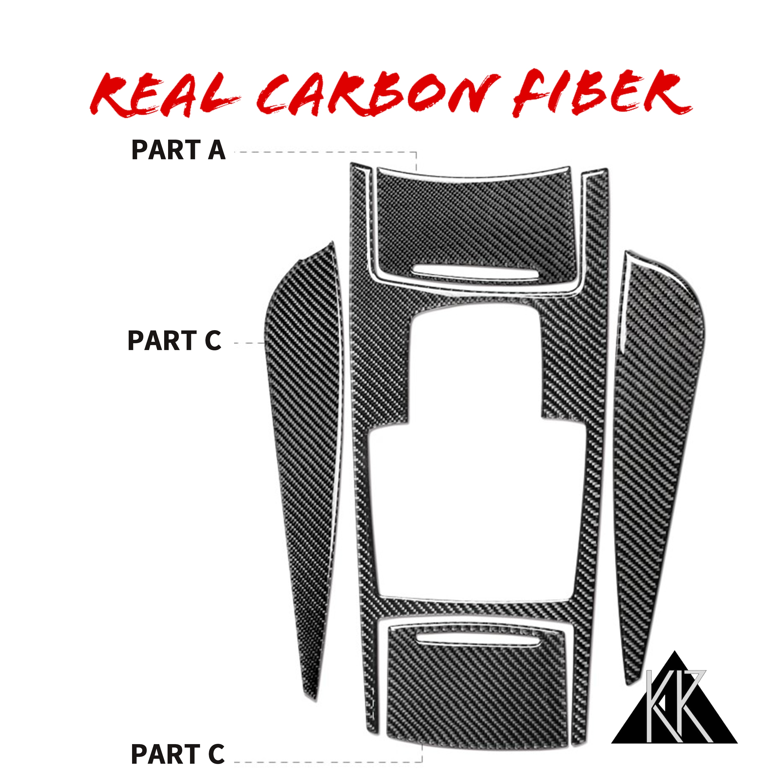 Para Audi A6 C5 C6 2005-2011 Interior de fibra de carbono Central de Panel de caja de cambios pegatinas adhesivos de estilo accesorios de coche