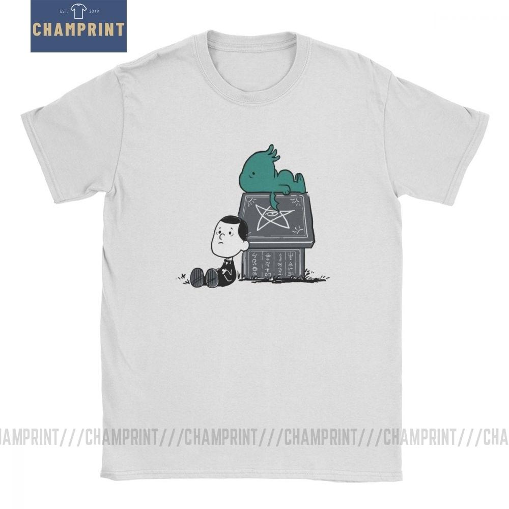 Мужская Винтажная Футболка Call Of Snoophulhu, хлопковая футболка с коротким рукавом и круглым вырезом, большие размеры
