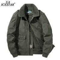 UAICESTAR брендовая зимняя куртка для мужчин, теплое плотное флисовое модное повседневное пальто большого размера, одежда M-5XL, ветровка, мужская...