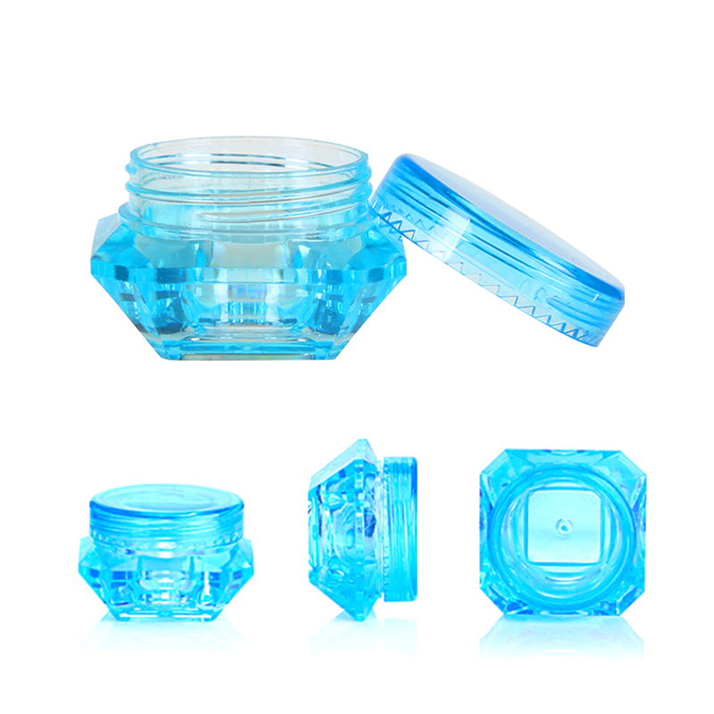 Refillable Bottle Plastic Pot Sample-Container Cosmetic Make-Up-Cream Nail-Art Glitters Small Diamond-Jar Empty-Jar Colorful 5g