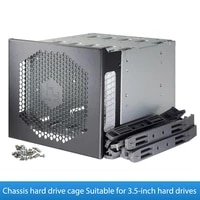 5 25in to 5x 3 5in sata sas hdd hard drive cage adapter tray rack for 3x 5 25 cd rom slot internal external pc with fan space