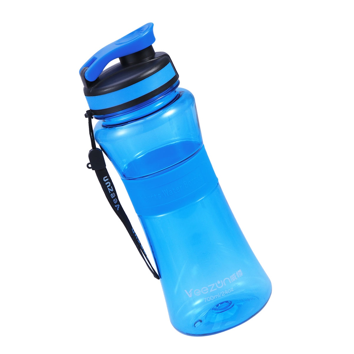 700ML Portable Transparent Leakproof Water Bottle for Yoga Running Outdoor Sports (Blue)