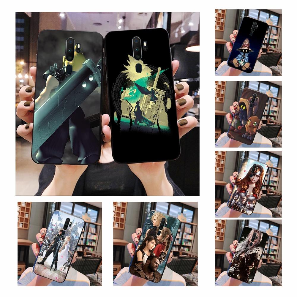 NBDRUICAI final fantasy Vivi Ornitier pokrywa czarny miękki sztywny futerał na telefon do Oppo A5 A9 2020 A11x A71 A73S A1K A83 przypadku