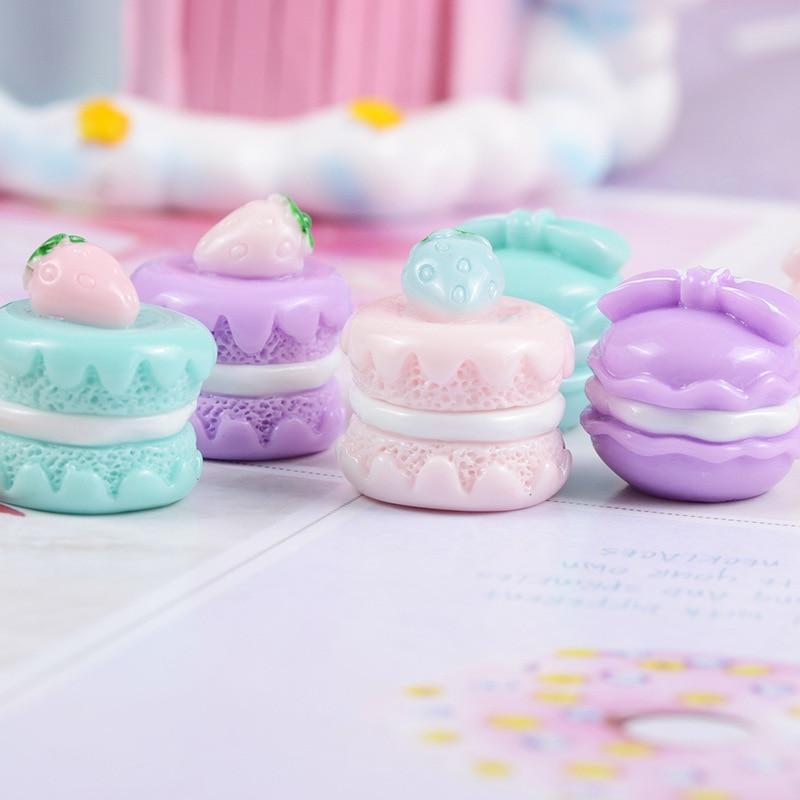 5 uds. Mini alimentos macarrón dulce casa de muñecas miniatura accesorios para fotos DIY accesorios de cocina juguetes de juego postre para muñecas