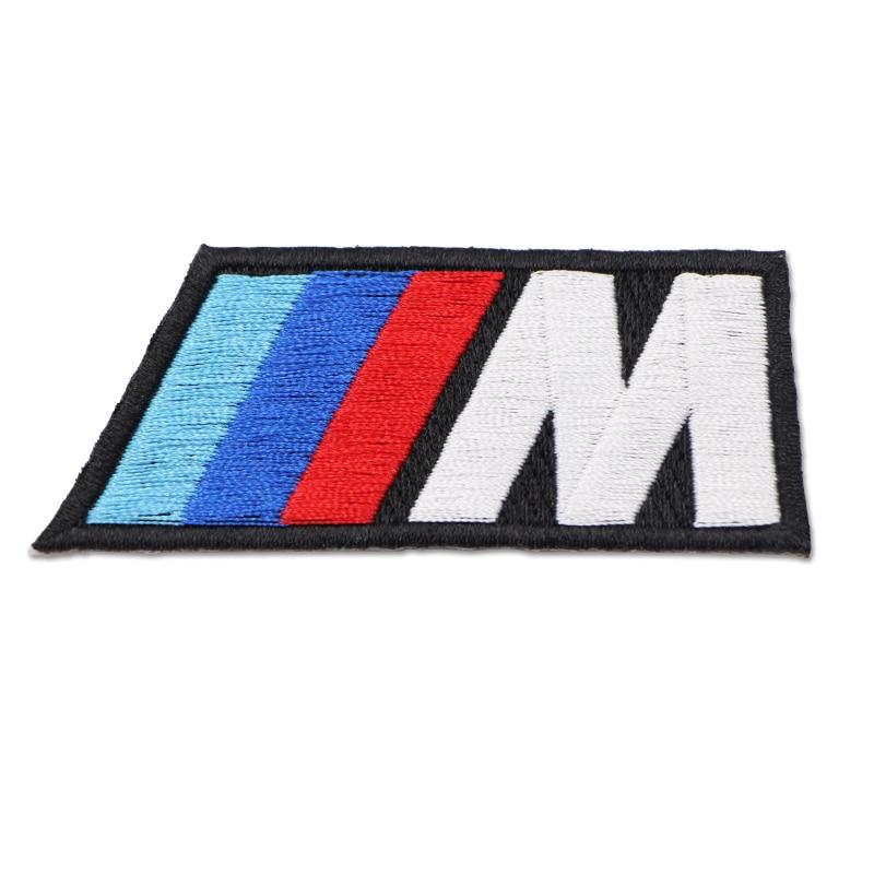 1 шт., хлопковая наклейка с логотипом M, тканевая Накладка для bmw M, наклейка X1 X3 X4 X5 X6 X7 e46 f20 e60 e39 f10, автомобильные аксессуары