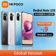 Global Version Xiaomi Redmi Note 10S 6GB 64GB/128GB Smartphone 10 S 64MP Quad Camera Helio G95 AMOLED DotDisplay 33W Fast Charge