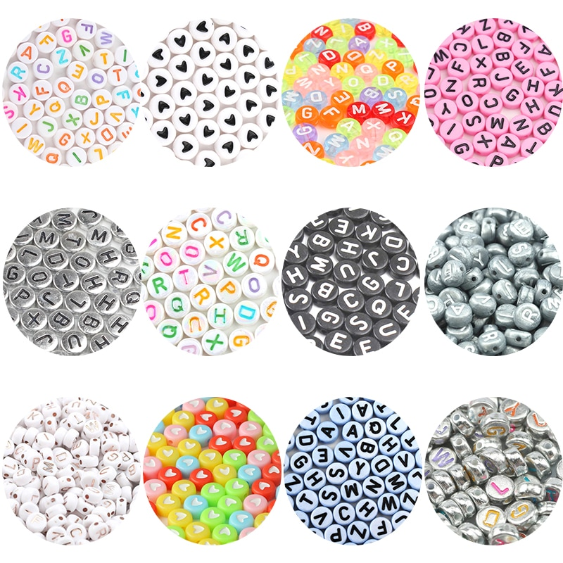 Mixed Digital Letter Acrylic Beads Round Flat Alphabet Cube Loose Spacer Beads For Jewelry Making Handmade Diy Bracelet Necklace 6 14mm candy color ab acrylic round beads 20 300pcs loose spacer seed beads for jewelry making handmade diy bracelet necklace