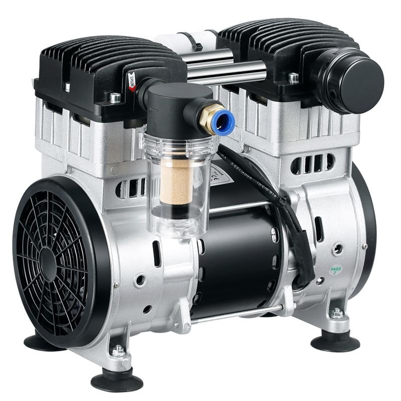 220 فولت صغيرة خالية من الزيت الصامت مضخة تفريغ ضخ مختبر مضخة تفريغ الضغط السلبي مضخة هواء الاستخدام الصناعي