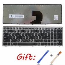 Русская Серебристая Клавиатура для ноутбука Lenovo Z500 Z500A
