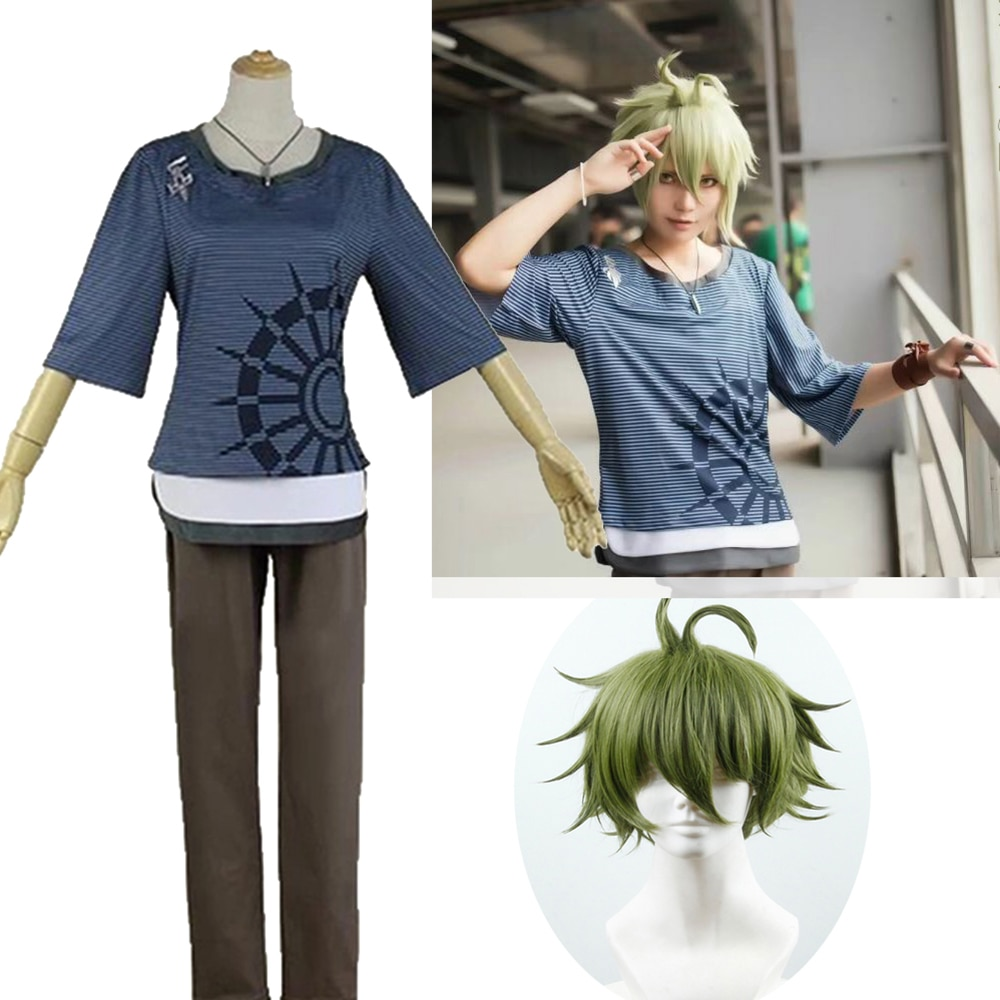 Super Danganronpa Dangan Ronpa V3 matar a Harmony Rantaro Amami del traje de Cosplay fiesta de disfraces de Halloween camiseta pantalones collar