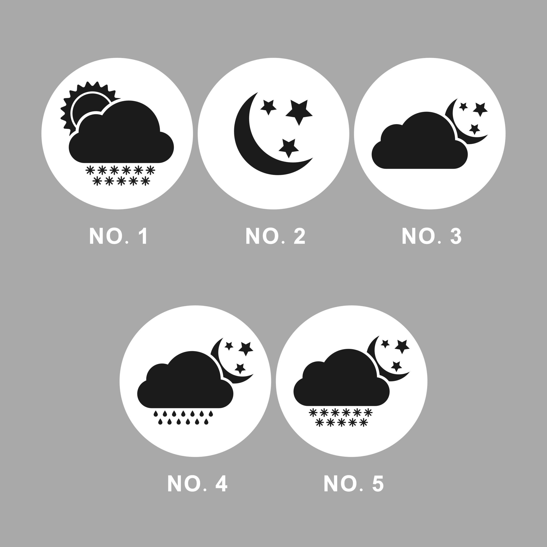 Venta al por mayor 320 Uds 3,5 CM pegatina de envoltorio de regalo autoadhesiva accesorio DIY embalaje Circular/pegatinas redondas lluvia nieve niebla de hielo