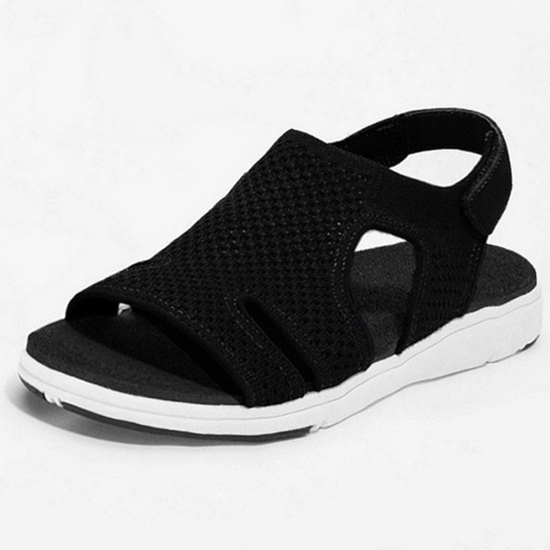 New Sandals Women Shoes 2021 Knitted Breathable Sports Sandals Ladies Casual Flip Flops Elastic Flats Shoes Woman Zapatos Mujer