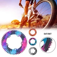 130bcd folding bicycle chainring ultra light narrow electroplating anode aluminum alloy 7075 bicycle chainring 56t54t