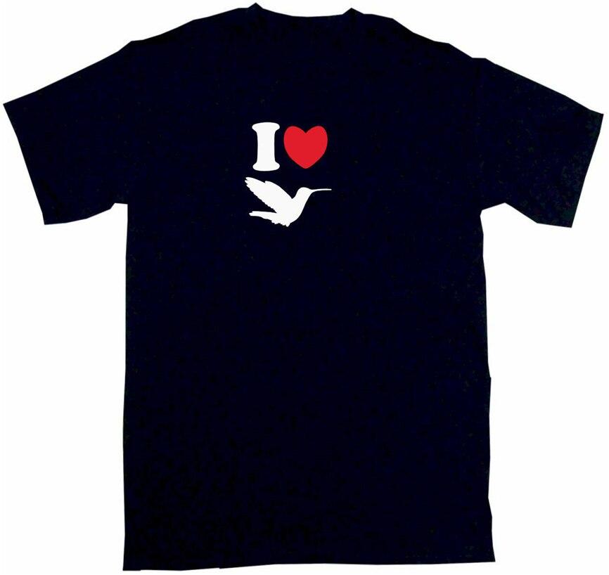 Camiseta para hombre I Heart Love Hummingbird camiseta de Color Small-6Xl presente camiseta Casual