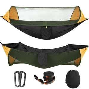 Portable Tent Camping Hammock with Mosquito Net Multi Use Portable Hammock Swing Tent for Hiking Camping
