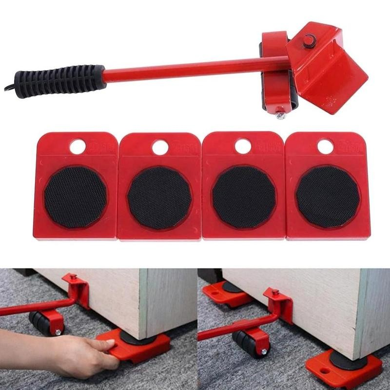 5pcs/set Furniture Jack Lifter Easy Moving Sliders Heavy Furniture Appliance Moving Lifting System T