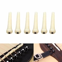 6pcs bridge pin classical style dot acoustic guitar musical stringed instruments guitar parts accessories