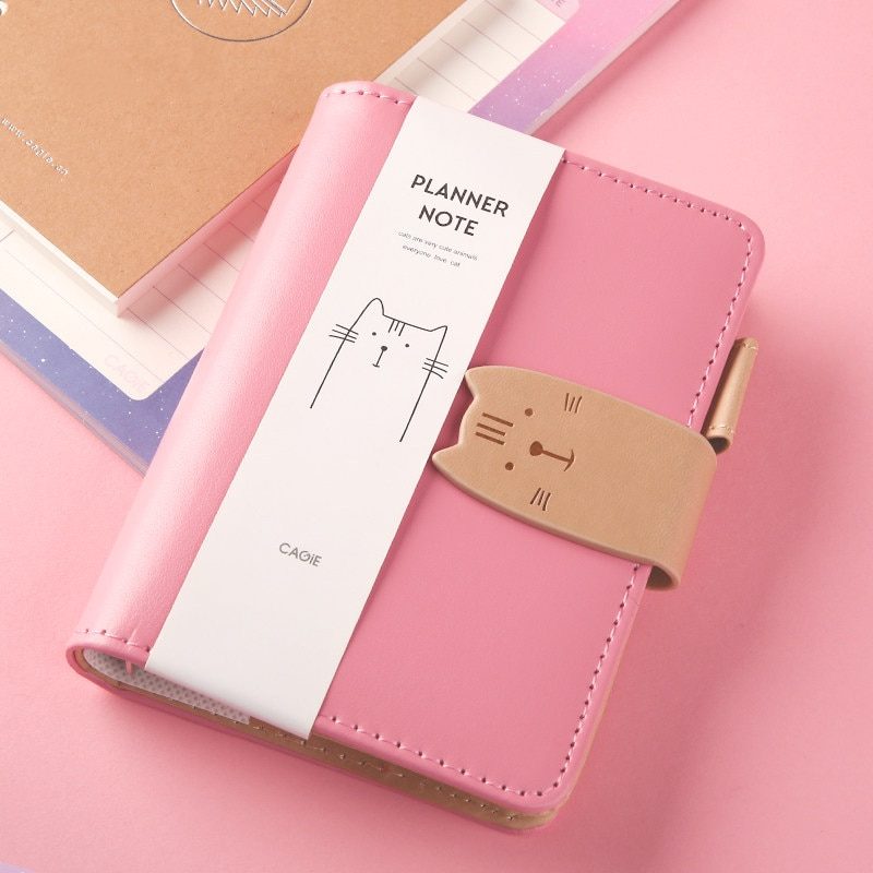 1Pcs A7 Mini Notebook Portable Pocket Notepad Memo Binder Diary Planner Agenda Organizer Sketchbook Office School Stationery