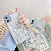 fashion flower phone case for iphone 6 6s 7 8 11 12 mini plus xr x xs pro max se 2020 shockproof transparent protection cover